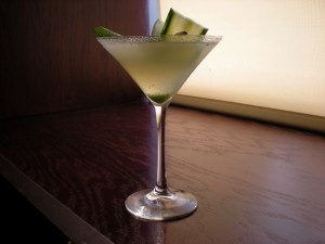 The Farmer's Martini at Pazzo Pizzeria in Stratford, Ont., celebrates local flavours of sage and cucumber.