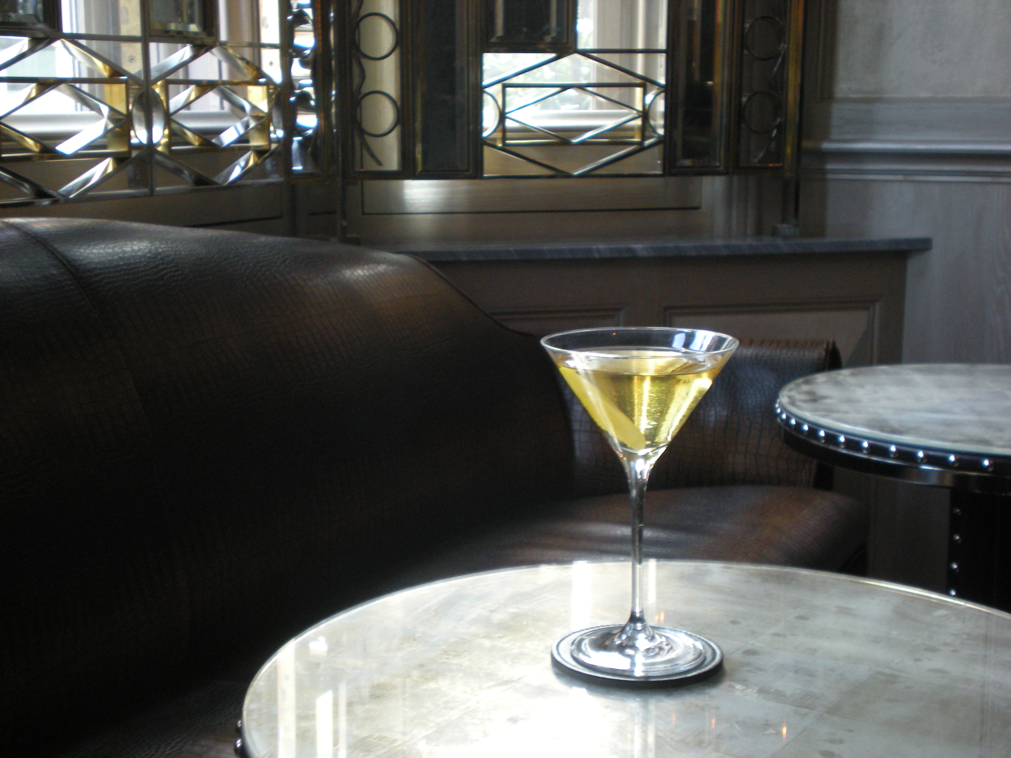 Custom-crafted martini at the Connaught Bar in London.