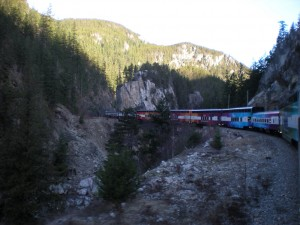 The Alberta Train on its way to Whistler.