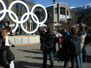 Olympic Rings in Whistler Village.
