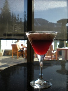 Triple Luzt cocktail at fairmon Chateau Whistler.